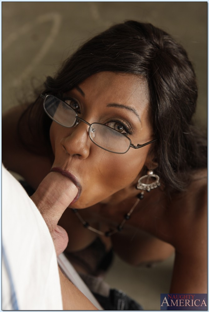 Abbie cat gives some cock torture and a deep throat blowjob to a helpless s 1